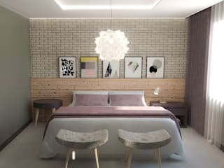 Modern style bedroom by Carolina Mendes Arquiteta Modern