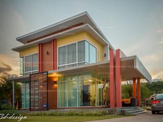 "HOMEOFFICE 2ชั้น ""แอท เมืองพลอย รีสอร์ท"" อ.บ่อพลอย จ.กาญจนบุรี โดย fewdavid3d-design"