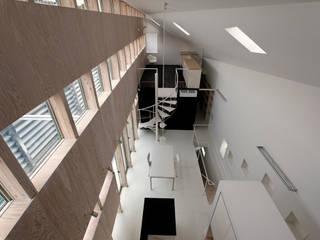 Phòng khách phong cách chiết trung bởi 前田篤伸建築都市設計事務所 Chiết trung