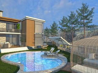 Altuncu İç Mimari Dekorasyon –  Tiran, Arnavutluk Modern Villa Tasarımı:  tarz Villa