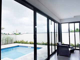 Casa VIU: Terraços  por Flavio Vila Nova Arquitetura