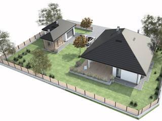 Dom jednorodzinny - Wadowice: styl , w kategorii Domy zaprojektowany przez FAAR architekci