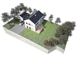 Dom jednorodzinny - Wadowice: styl , w kategorii Dom jednorodzinny zaprojektowany przez FAAR architekci