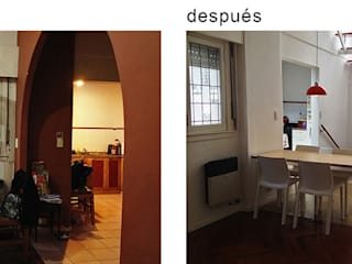 Ruang Makan oleh Paula Mariasch - Juana Grichener - Iris Grosserohde Arquitectura, Modern