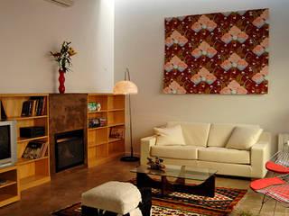 Home Loft Livings modernos: Ideas, imágenes y decoración de Paula Mariasch - Juana Grichener - Iris Grosserohde Arquitectura Moderno