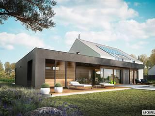 EX 18 G2 ENERGO PLUS - idealny dom dla miłośników minimalizmu! : styl , w kategorii Dom jednorodzinny zaprojektowany przez Pracownia Projektowa ARCHIPELAG,Nowoczesny