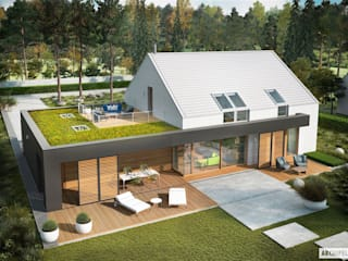 EX 18 G2 ENERGO PLUS - idealny dom dla miłośników minimalizmu! od Pracownia Projektowa ARCHIPELAG Nowoczesny