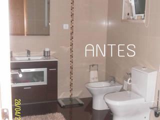 Projecto de Decoração e Remodelação WC:   por Andreia Louraço - Designer de Interiores (Contacto: atelier.andreialouraco@gmail.com)
