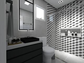 Banho dos Filhos: Banheiros  por Letícia Saldanha Arquitetura