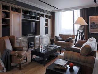 Квартира на Мосфильмовской: Гостиная в . Автор – SumburBuro