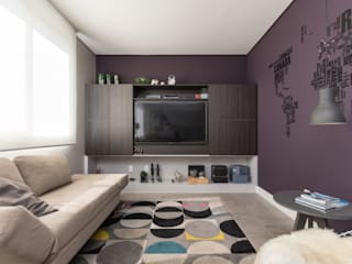 Rabisco Arquitetura Living room MDF Purple/Violet