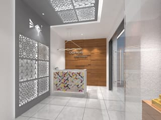 Reception Modern study/office by Ravi Prakash Architect Modern Plywood