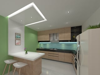 Ravi Prakash Architect Built-in kitchens Engineered Wood White
