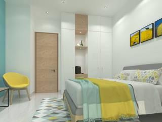 Guest Bedroom Minimalist bedroom by Ravi Prakash Architect Minimalist Engineered Wood Transparent