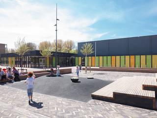 Dorpshuis Duivendrecht - Exterieur:  Kantoor- & winkelruimten door MINT Architecten