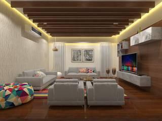 Living Room Asian style living room by Ravi Prakash Architect Asian Engineered Wood Transparent