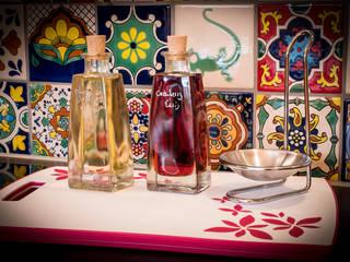 Hochwertige Fliesen mit Muster aus Mexiko für die Küche : rustikale Küche von Mexambiente e.K.