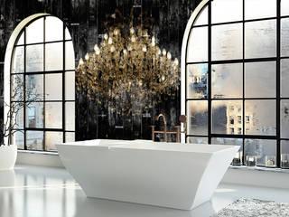 Diamonds Waterproof Wallpaper for in Bathroom:   door La Aurelia