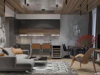 Loft: Гостиная в . Автор – Smirnova Luba
