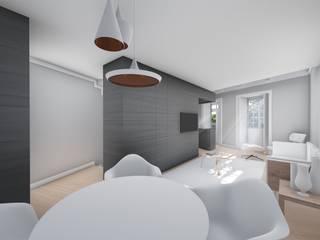 Casa HF: Salas de estar  por Helena Faria Arquitectura e Design