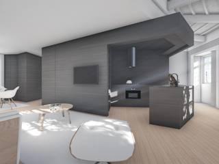 Casa HF: Cozinhas  por Helena Faria Arquitectura e Design