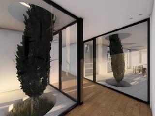 Casa GC: Corredores e halls de entrada  por Helena Faria Arquitectura e Design