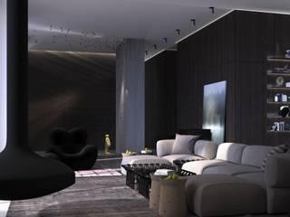 Visor - house: Гостиная в . Автор – Архитектурное бюро Materia174, Классический