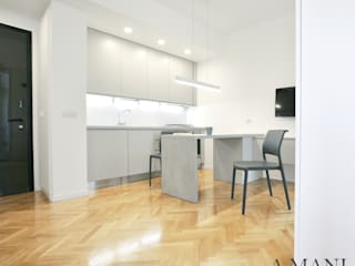 A4MANI - Interior & Architecture Built-in kitchens Engineered Wood White