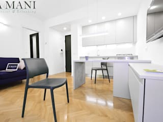 A4MANI - Interior & Architecture Modern Kitchen Engineered Wood White