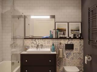 """Дизайн-проект квартиры в ЖК """"Ярцевская 24"""": Ванные комнаты в . Автор – Loft&Home"""