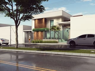 Casas modernas de Miragem Arquitetura e Engenharia Moderno