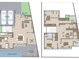 Residencia Natura: Salas de estilo  por SPACIO DISEÑO Y CONSTRUCCION