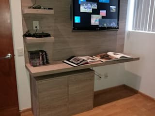 MTD Mexico Study/officeDesks Engineered Wood Beige
