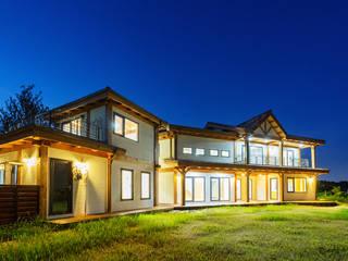 전주 삼천동 중목구조주택 (100py): 한다움건설의  목조 주택