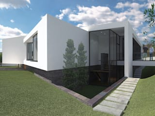 Moradia Unifamiliar em Quelfes, Olhão: Casas modernas por ANDRÉ ALVES