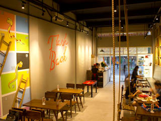 Restaurantes de estilo  por TIES Design & Build, Industrial