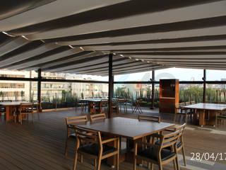 TP618 Moderner Balkon, Veranda & Terrasse Bambus