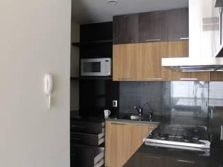 TP618 Küchenzeile Massivholz Schwarz
