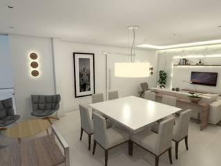 APARTAMENTO CABRAL - EDIFICIO SELECT - CURITIBA/PR Salas de jantar modernas por Petillo Arquitetura Moderno