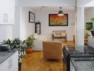 Projeto CFL - Reforma de apartamento / interiores Salas de estar modernas por RC|a+d Arquitetura Moderno