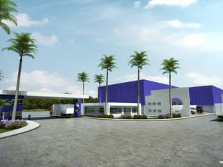 Complesso d'uffici in stile industrial di Arquitetura Sônia Beltrão & associados Industrial