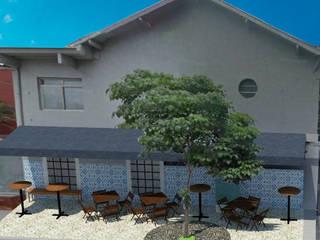 Projeto TZM - área externa de restaurante por RC|a+d Arquitetura