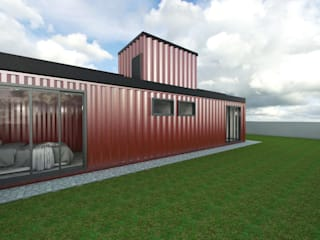 Residência em Containers - Bombinhas/SC Casas modernas por Petillo Arquitetura Moderno