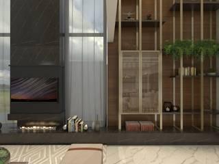 PROJETO ARQUITETÔNICO RESIDENCIAL Salas de estar modernas por Petillo Arquitetura Moderno