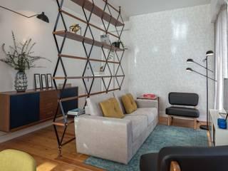 LIVING ROOM: Salas de estar modernas por Conceitos Itinerantes