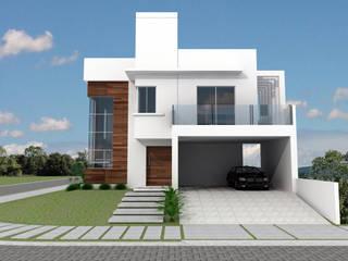 Residência Unifamiliar - Praia de Fora Residence: Casas familiares  por Cadu Martins Arquiteto e Urbanista,Moderno