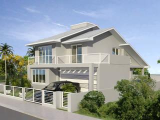Residência Unifamiliar - KUHNEN: Casas familiares  por Cadu Martins Arquiteto e Urbanista,Clássico