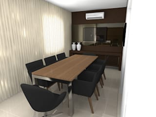 Sala de Reuniões BelleFlux: Escritórios  por Cadu Martins Arquiteto e Urbanista,Moderno