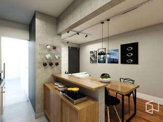 Apto. Santo André Cozinhas industriais por Studio Monfre Arquitetura Industrial