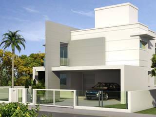 Residência Unifamiliar - CITADIN: Casas familiares  por Cadu Martins Arquiteto e Urbanista,Moderno